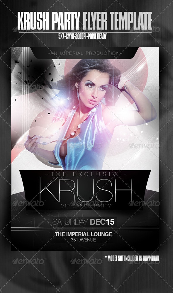 Krush Dance Party Flyer - Clubs & Parties Events