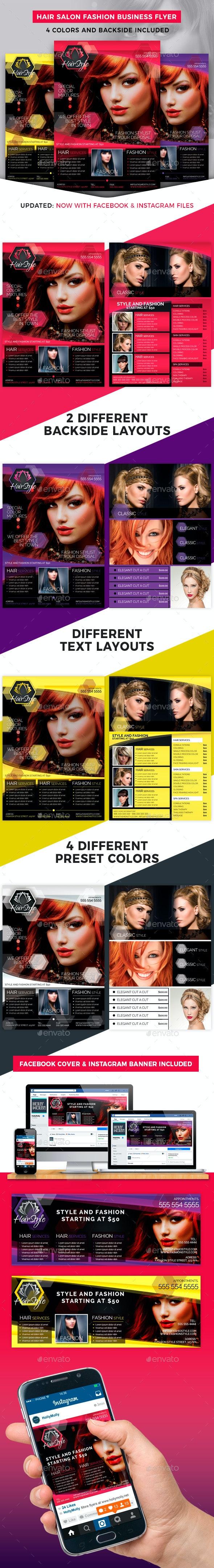 Hair Salon Fashion Style Business Flyer - Corporate Flyers