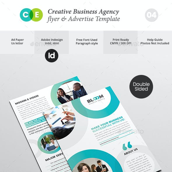 Creative Business Agency Double Sided Flyer V04