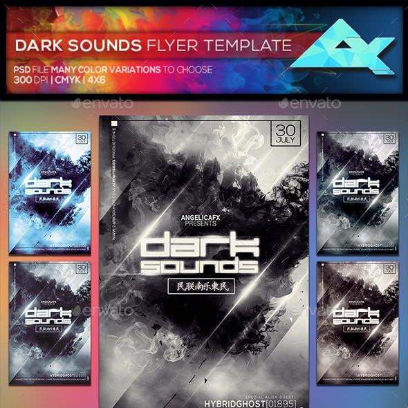 Dark Sounds Flyer Template
