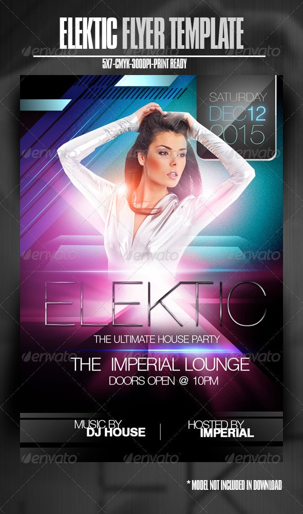 Elektic-House Party Flyer - Clubs & Parties Events