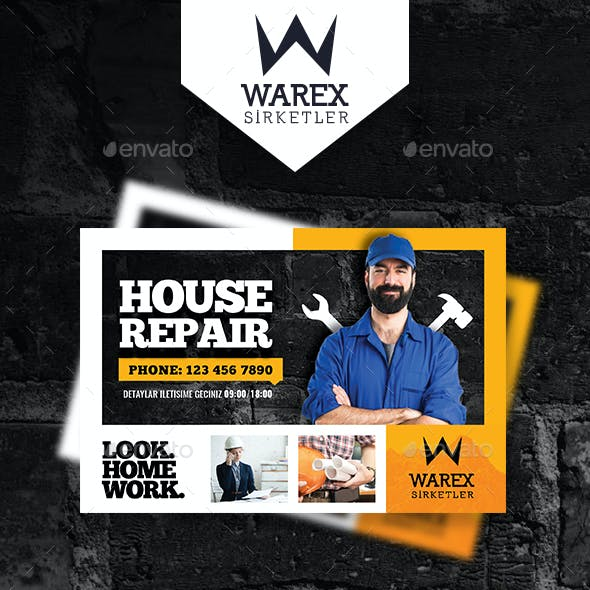 House Repair Postcard Templates