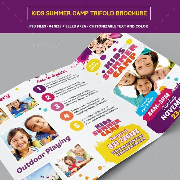 Kids Summer Camp Trifold