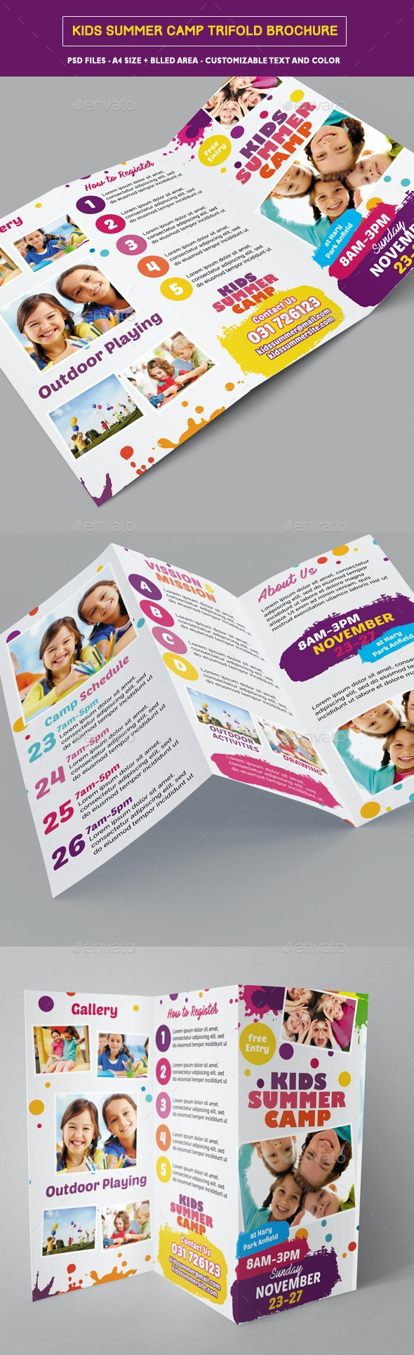 Kids Summer Camp Trifold - Corporate Brochures