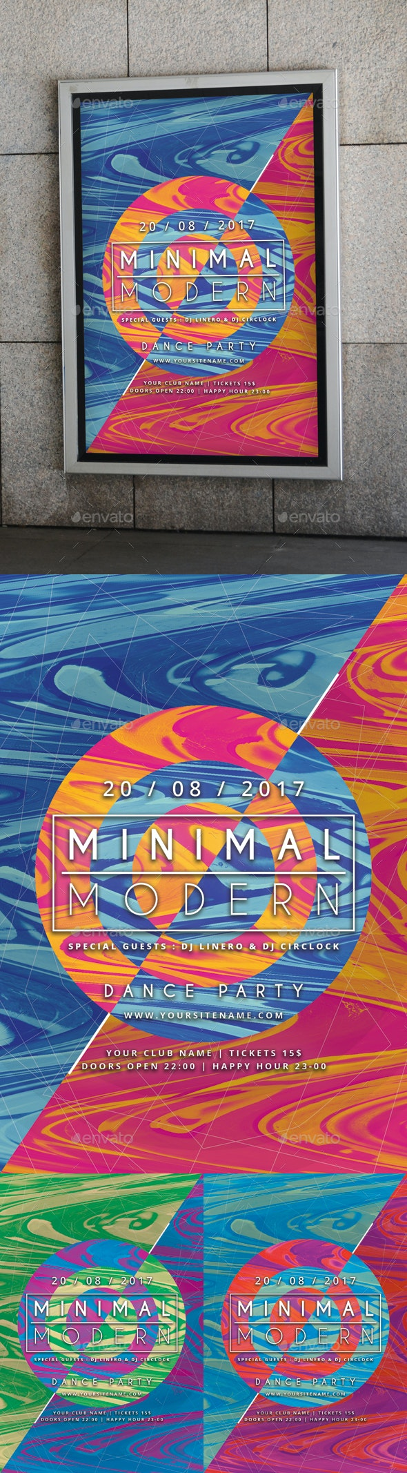 Abstract Minimal Modern Poster - Clubs & Parties Events