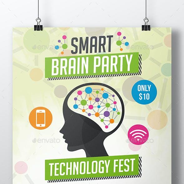 Smart Brain Flyer Template