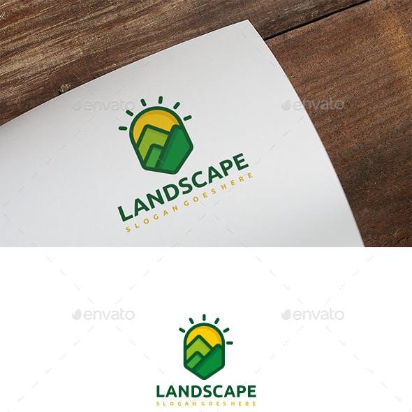 Mountains Landscape Logo