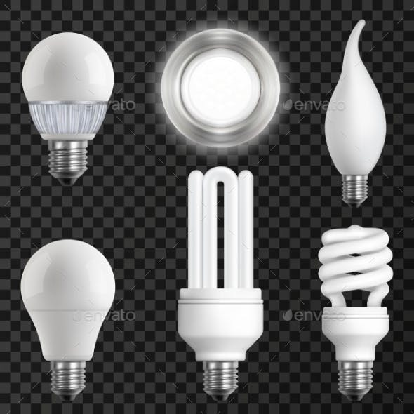 Realistic Light Bulbs Set