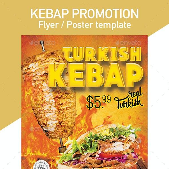 Turkish Kebap Flyer / Poster Template