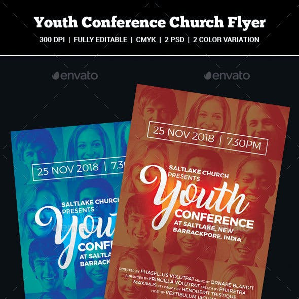 Youth Conference Church Flyer