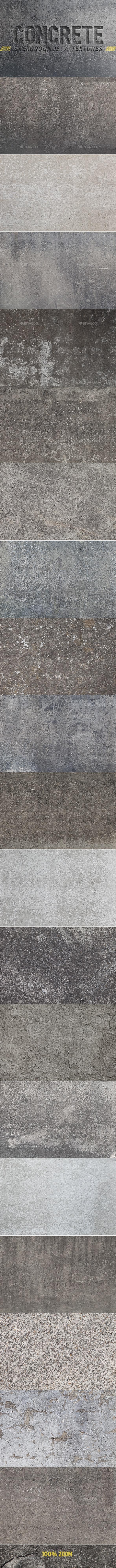 20 Concrete Backgrounds / Textures - Concrete Textures