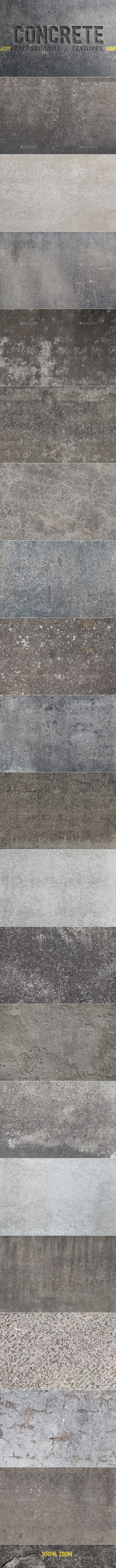 20 Concrete Backgrounds / Textures - Concrete Textures