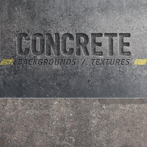 20 Concrete Backgrounds / Textures