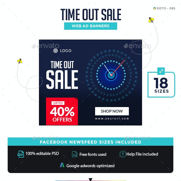 Time Out Sale Banners