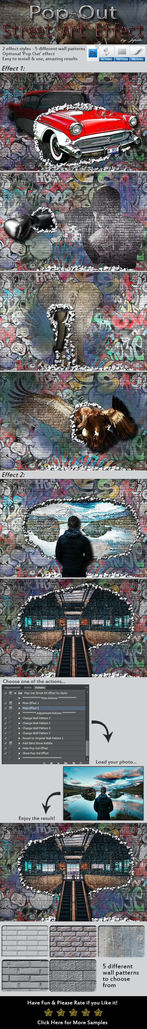 Pop-Out Street Art Effect - Utilities Actions