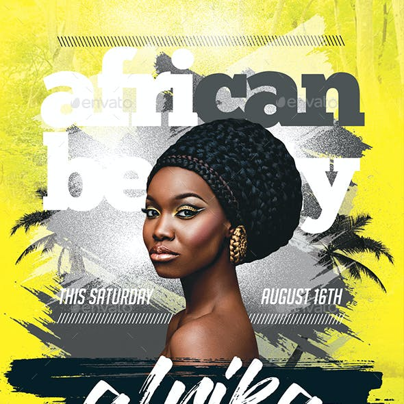African Beauty Party Flyer