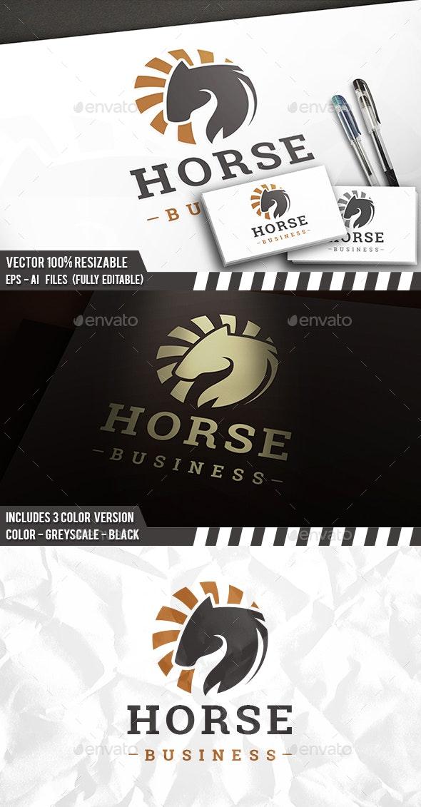 Dark Horse Circle Logo - Animals Logo Templates