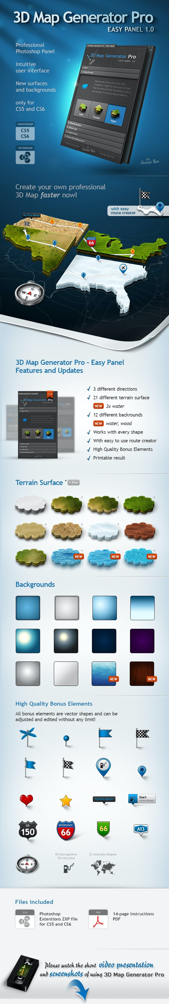 3D Map Generator Pro - Easy Panel by Orange_Box | GraphicRiver