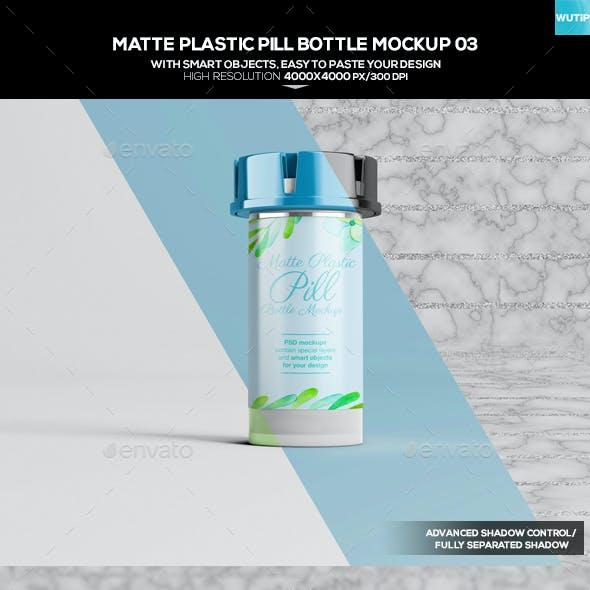 Matte Plastic Pill Bottle Mockup 03