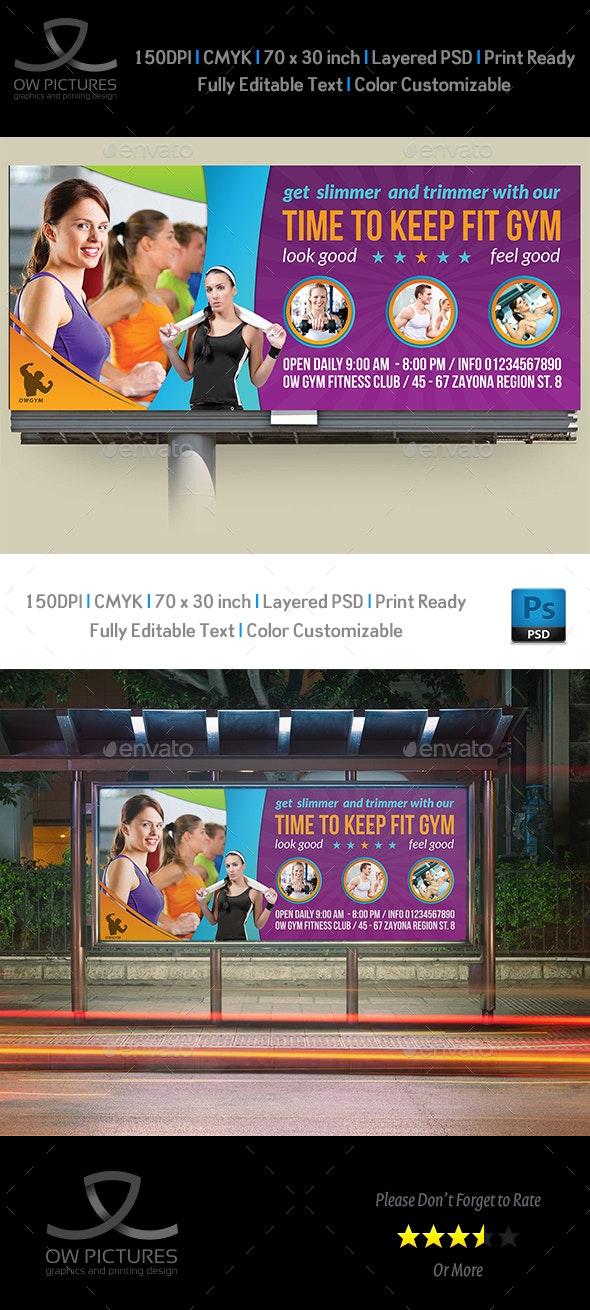 Fitness GYM Billboard Template Vol.2 - Signage Print Templates