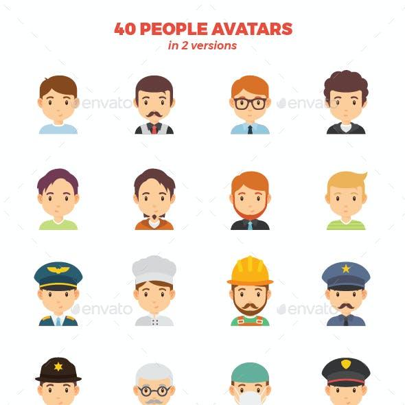 40 People Avatars