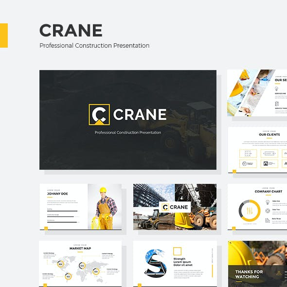 Crane - Professional Construction Google Slides Presentation