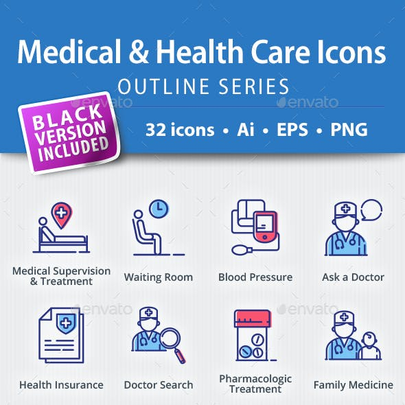 Medical & Health Care Icons - Outline Series