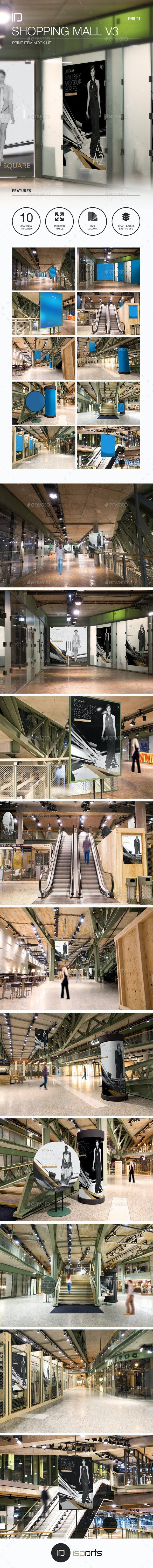 Mock-Up • Shopping Mall Gallery v3 - Posters Print
