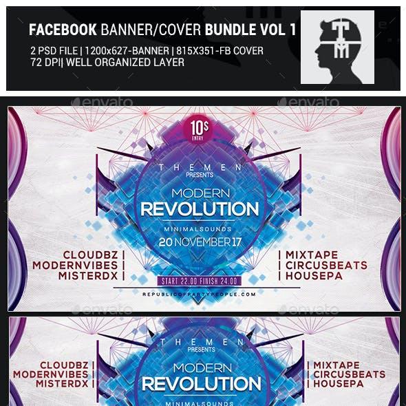 Facebook Banner/Cover Template Bundle Vol 1