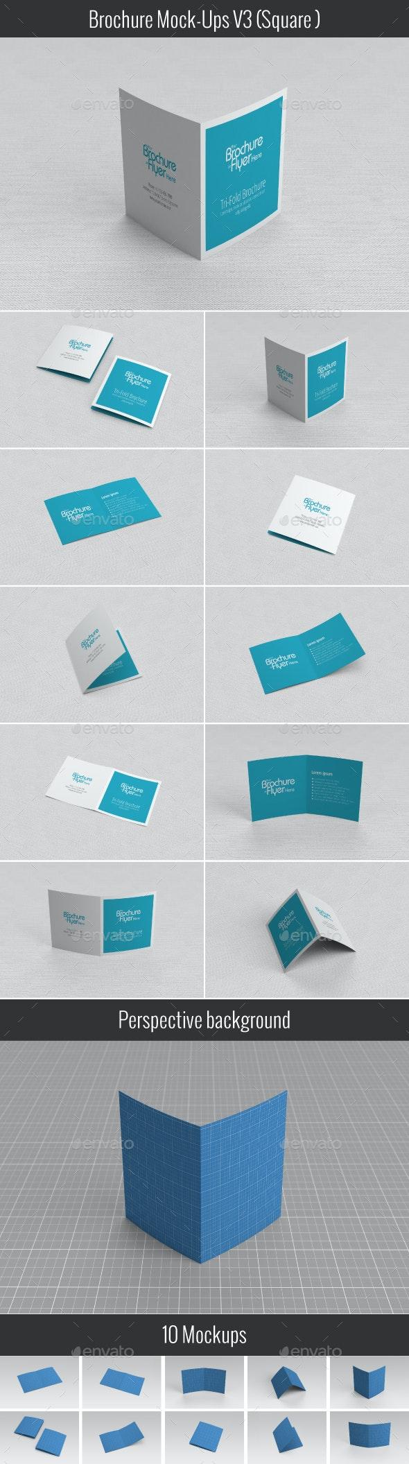 Brochure Mock-Up V03 - Brochures Print