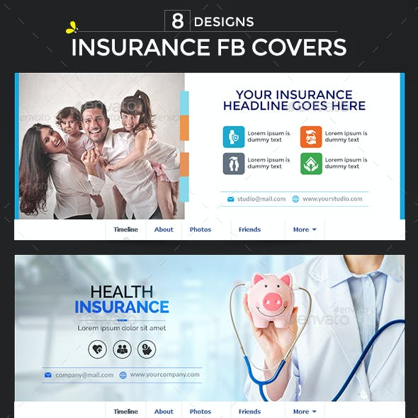 Insurance Facebook Covers - 8 Designs