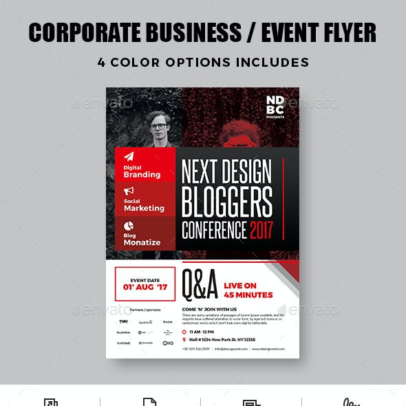 Corporate business event flyer