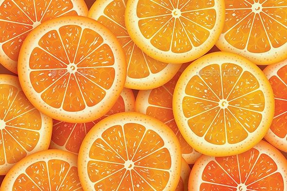 Orange Slice Background For Summer. - Food Objects