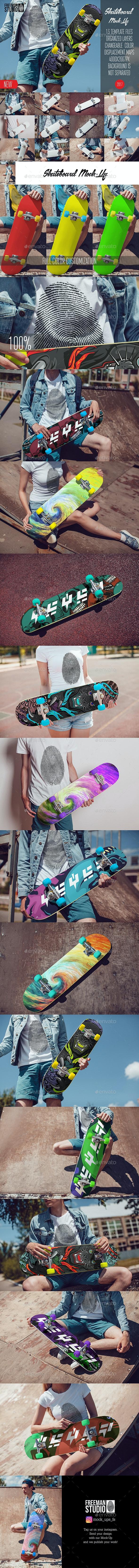 Skateboard Mock-Up Vol.1 2017 - Product Mock-Ups Graphics
