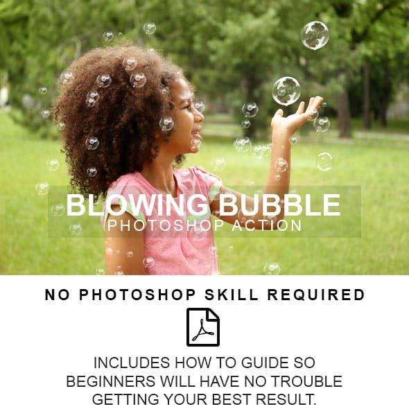 Blowing Bubble Photoshop Action
