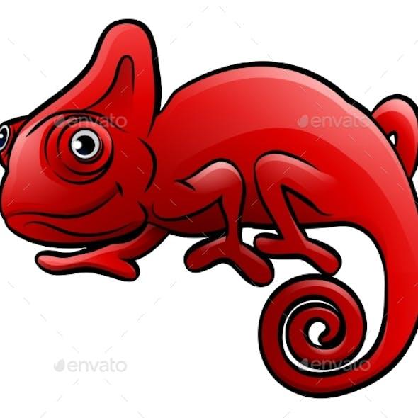 Chameleon Safari Animals Cartoon Character