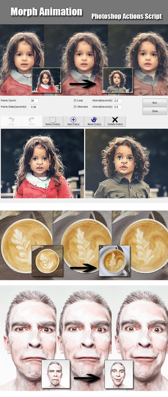 Morph Animation Photoshop Add-on - Utilities Actions