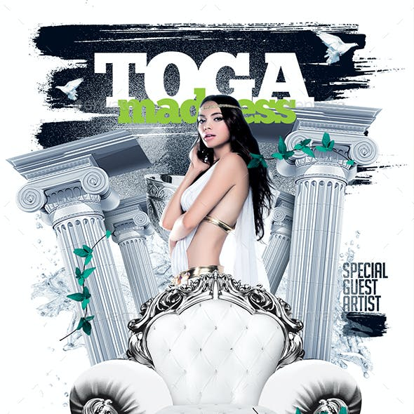 Toga Madness Flyer