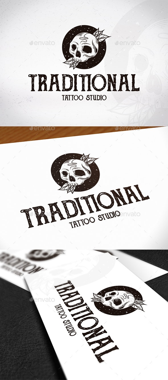 Traditional Tattoo Studio Logo - Vector Abstract