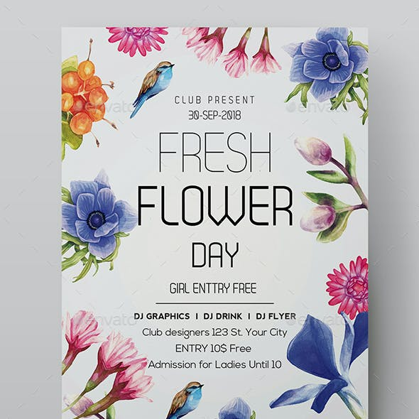Pure Flowers Flyer