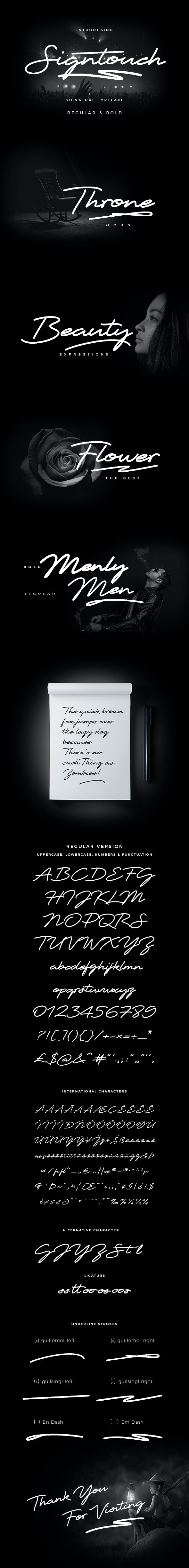 Signtouch Signature Font - Calligraphy Script