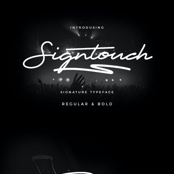 Signtouch Signature Font