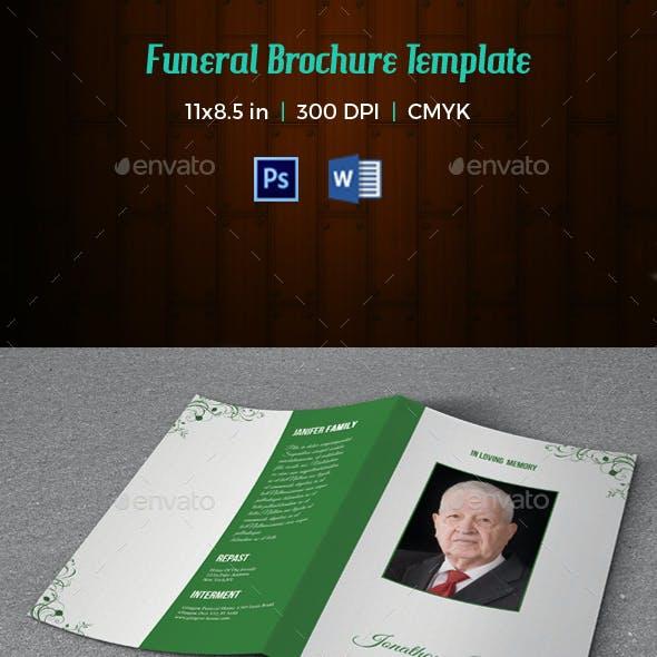Funeral Program Template V182