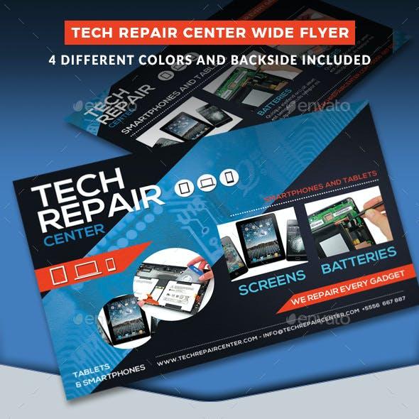 Tech Repair Center Wide Flyer Template