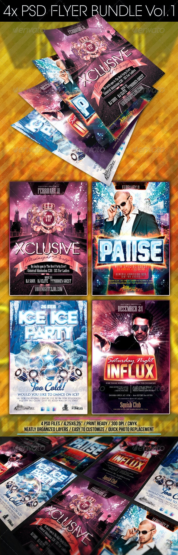 Flyer Bundle Vol.1 - Clubs & Parties Events