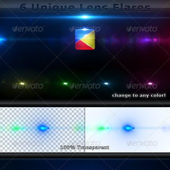 6 Unique Lens Flares - Light Effects -5-
