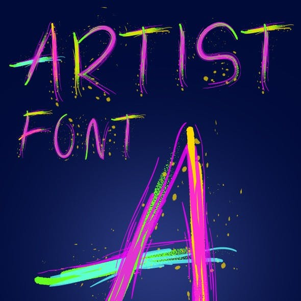 Artistic Colorful Alphabet