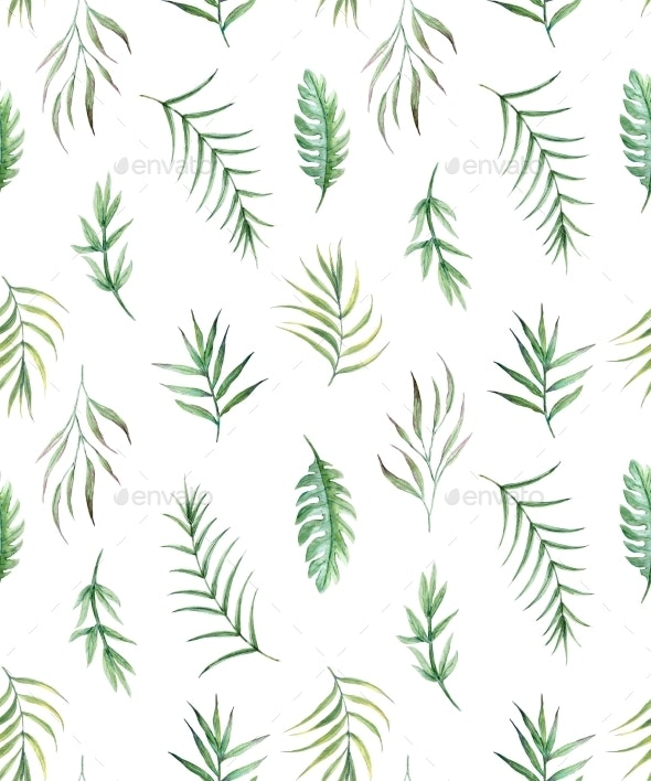 Watercolor Tropical Pattern - Patterns Backgrounds