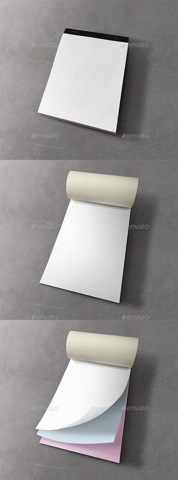 Notepad Mockup - Print Product Mock-Ups
