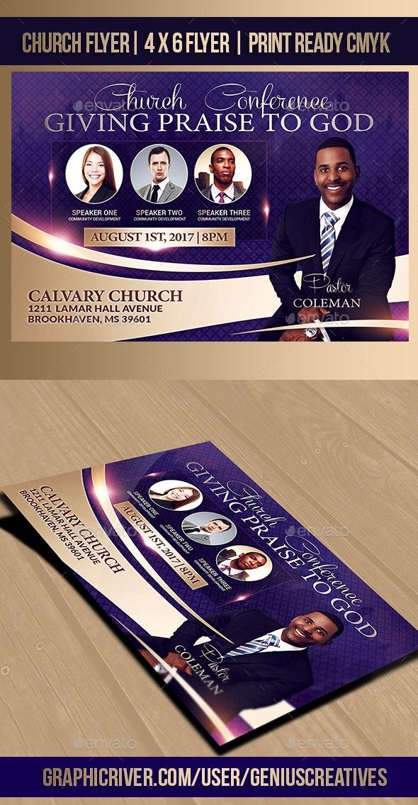 Giving Praise Church Flyer - Church Flyers